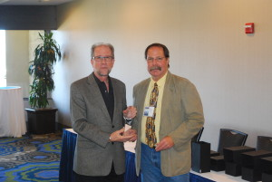 Receiving the award on behalf of Alameda County: James Kachik, AIA with Rob Unholz CCAEA President.